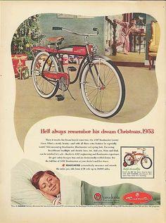 Christmas 1953 #Bicycle ad