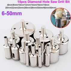 15pcs-6mm-50mm-Diamond-Hole-Saw-Tile-Ceramic-Glass-Porcelain-Marble-Drill-Bit