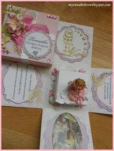 Mój świat kolorów...: Dla dziewczynki... Exploding Boxes, Cover, Blanket, Explosion Box