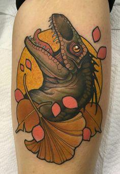 Raptor tattoo by @sneakymitch on instagram