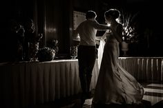 Erika S. | Love in the Darkness | Hire Erika S. here: https://soply.com/photomadly #photography #weddingphotography #weddingphotographer #dancing #soplyhq #soplywedding #blackandwhite #darkness #justmarried