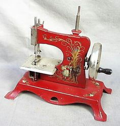 A working miniature to encourage the young ones in the art of sewing