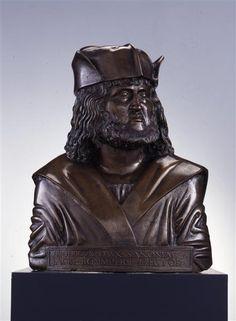 Friedrich III. von Sachsen, gen. der Weise Fiorentino, Adriano (um 1450-1499)|Bildhauer 1498 Skulpturensammlung Material and Technique Gelbguss Measurement H. 62,8 cm, B. 49,5 cm, T. 27,0 cm