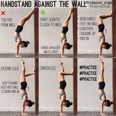 office yoga poses back pain . yoga poses for office workers . yoga poses for office . yoga poses in office . yoga poses for the office . Yoga Bewegungen, Cardio Yoga, Yoga Handstand, Yoga Flow, Handstands, Handstand Progression, How To Handstand, Wall Yoga, Gymnastics Handstand