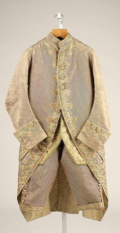 Suit - 1775-1785, French - The Metropolitan Museum of Art