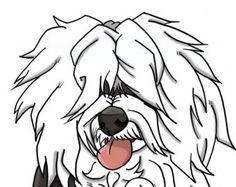 8x10 Old English Sheepdog (long hair version) dogicature