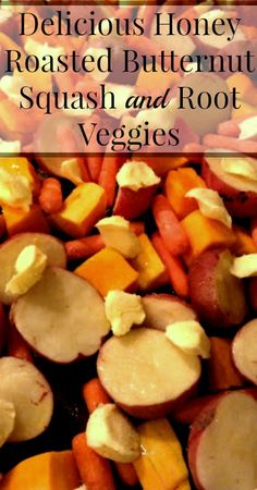 Delicious Honey Roasted Butternut Squash and Root Veggies {Real Food, Traditional Foods, Primal, Gluten Free, Grain Free, Healthy Recipes, Vegetarian Recipes, Dinner Recipes, Easy Recipes, Healthy Eats}