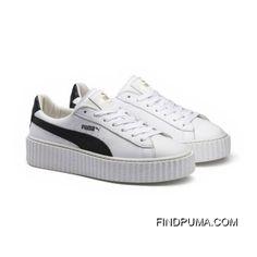 Mens PUMA BY RIHANNA CREEPER WHITE LEATHER Puma White-Puma Black-Puma White  Cheap To Buy 132f15b8f1c