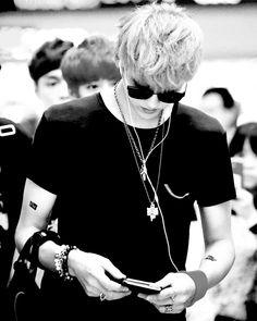 Kris ~ EXO (Luhan is behind Kris and Lay is behind Luhan.)