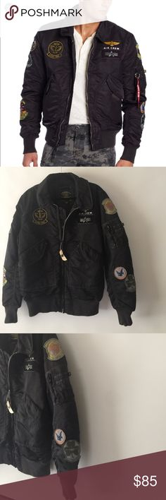 Alpha industries Air Crew Pilot bomber jacket. Gorgeous and in Great Condition, it does have the red ribbon, but still have part of the tag attached to it, please let me know if you have any questions, Bought it at Nordstrom. Sorry NO trades or modeling, pictures are part of description. Alpha Industries Jackets & Coats Bomber & Varsity
