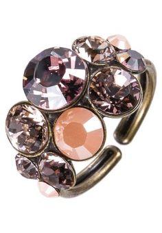 Konplott - PETIT GLAMOUR - Ring - rose/goldfarben