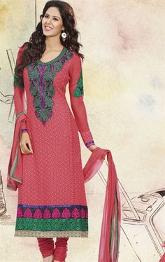 Deep Pink Color Traditional Salwar Kameez with Dupatta HSPUNI1528 - www.indianwardrobe.com