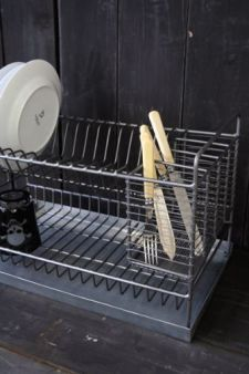 Industrial Style Metal Dish Drainer