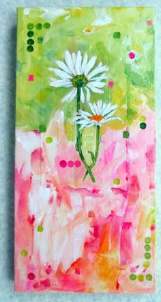 Daisy Duet - I like this shade of green with pink....