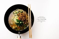 Easy Japanese-inspired dan dan zucchini noodle soup recipe.