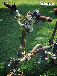 Absolut lustiges Bike!!!!! Steampunk Brompton By Artgerm
