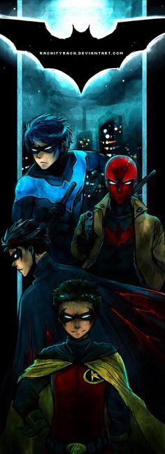 Dick Grayson. Jason Todd. Damian Wayne. Tim Drake.