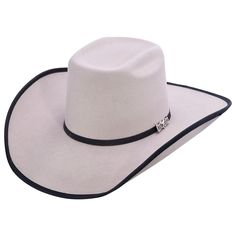 341624e0e2e27 Cuernos Chuecos Grey Brick Crown Cowboy Felt Hat