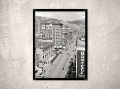 Butte Montana 1939.Broadway Butte MT.Old Butte by Chromatone