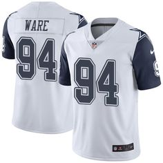 Youth Nike Dallas Cowboys #94 DeMarcus Ware Limited White Rush NFL Jersey