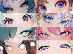 お久しぶ on - Eyes reference - Anime Digital Painting Tutorials, Digital Art Tutorial, Art Tutorials, Concept Art Tutorial, Art Anime, Anime Kunst, Art Sketches, Art Drawings, Eyes Artwork
