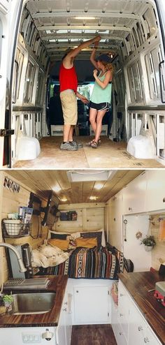 There are a lot of people around the world dreaming about tiny house and go for their dream! You will find 30 awesome examples of perfect School Bus and van conversions into tiny House - for couples, for family of for one person and so one. Van Life, Vans, Kombi Home, Bus Living, Bus House, School Bus Tiny House, Camper Van Conversion Diy, Cargo Van Conversion, Van Interior