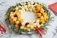 Plateau de fromages en forme de couronne