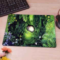 My Neighbour Totoro Totoro anime umbrellas Computer Mouse Pad Mousepad Decorate Your Desk Non-Skid Rubber Pad