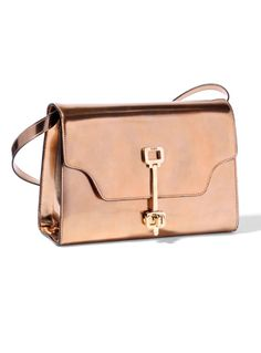 Tod's Fall/Winter 2012 Copper Rose, Rose Gold, Bronze, Gold Fashion, Luxury Bags, Fashion Handbags, Handbag Accessories, Purses And Bags, Gucci