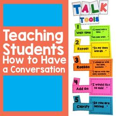 Teaching Students HOW to have a conversation. Practice collaborative conversation with diverse partners. SL.K.1, SL.K.1a