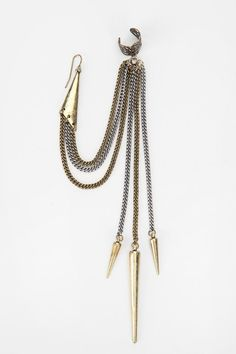 spike accessories | Spike Ear Cuff Earring #UrbanOutfitters | Accessories