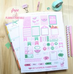 Juicy Watermelon Planner Stickers | Free printable for persona use only