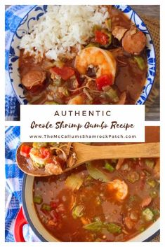 cajun and creole recipes This amazingly flavorful Authentic Shrimp Gumbo recipe uses the masterpiece of all sausages spicy andouille sausage with shrimp, chicken, and traditiona Cajun Gumbo, Shrimp Gumbo, Shrimp Creole, Seafood Gumbo, Louisiana Gumbo, Shrimp Chicken Sausage Gumbo Recipe, Seafood Boil, Seafood Dinner, Creole Recipes