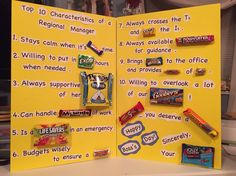 Boss's Day Candy Poster Board | Crafty Ideas & Camping | Pinterest ...