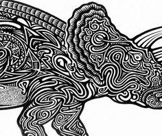 Items similar to Dinosaur Art Print by Posterography on Etsy Dinosaur Projects, Dinosaur Art, Dinosaurs, Grandkids, Art Lessons, Illustration Art, Unique Jewelry, Handmade Gifts, Room