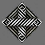 Omar Rayo Color Optical Illusions, Optical Illusion Quilts, Colombian Art, Creation Deco, Illusion Art, Fused Glass Art, Arte Pop, Aboriginal Art, Zentangle