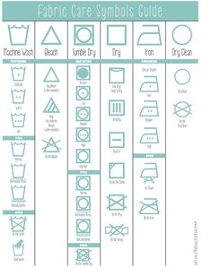 How To Read The Laundry Symbols On Your Clothing Tags