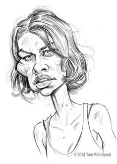 Maggie Greene (Lauren Cohan) by Tom Richmond