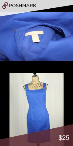 Banana Republic regal blue dress Beautiful Banana Republic princess dress Fitted design Zip up back Fully lined Sophisticated and chic Banana Republic Dresses