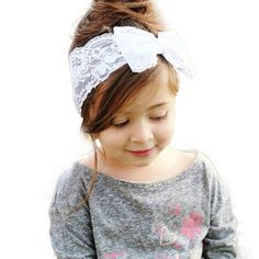Handmade Lace Bow Headband For Girls