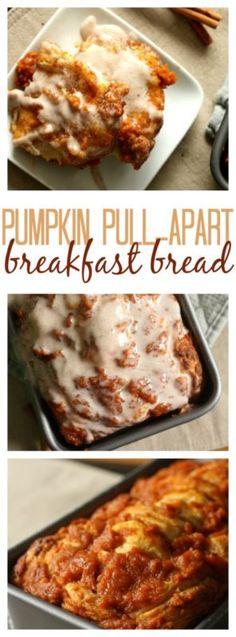 Pumpkin Pull Apart Breakfast Bread is perfect for Fall!
