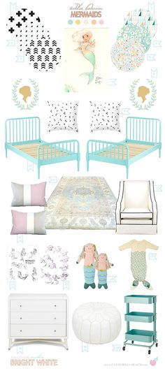 California Peach: Mermaids | Shared Toddler Bedroom