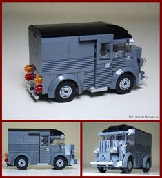 "https://flic.kr/p/9FBc8G | Citroën type H | Citroën Type H en minifig-scale (5-wide). The model still has a problem with the front, getting the right lines. But selecting the ""best"" angle for the photo can help, as seen in the biggest of the three inserts..."