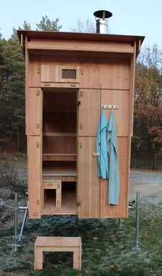 Saunas, Diy Sauna, Mobile Sauna, Sauna Shower, Outdoor Sauna, Sauna Design, Sauna Room, Steam Room, Garden Projects
