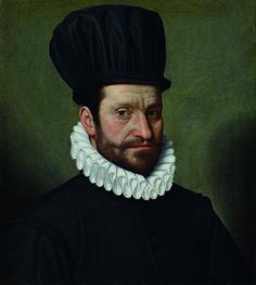 Pittore bergamasco (?) - Ritratto di Francesco Colleoni - 1584 - Accademia Carrara di Bergamo Pinacoteca