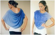 DIY Clothes DIY Refashion : Women fashion: DIY Convertible Shawl/Shrug