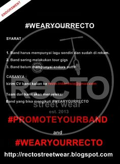RECTO   CLOTHING COMPANY : #PROMOTEYOURBAND and #WEARYOURRECTO