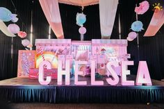 Chelsea's Sweet Shoppe Themed Party – Stage Setup 1st Birthday Parties, Birthday Cake, Party Themes, Party Ideas, Party Planning, First Birthdays, Chelsea, Stage, Candy