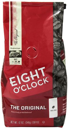 Eight O'clock Original Whole Bean Coffee, 12 oz * Review more details @ : Fresh Groceries