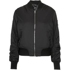 TOPSHOP Ultimate MA1 Bomber Jacket ($72) ❤ liked on Polyvore featuring outerwear, jackets, coats, coats & jackets, tops, black, bomber jacket, blouson jacket, topshop jacket and bomber style jacket